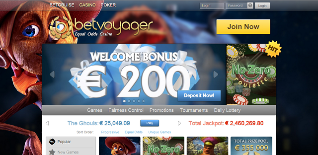 BetVoyager Homepage